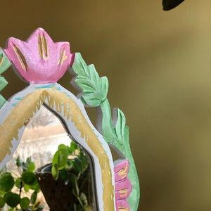 Wall Art - Hand painted Floral Boho Mirror